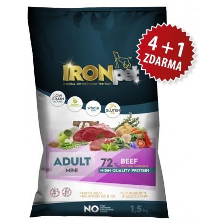IRONpet BEEF Mini Adult 1,5kg-AKCE 4+1-15404