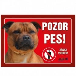 cedulka PLAST - Staffordshire Bull Terrier -15414