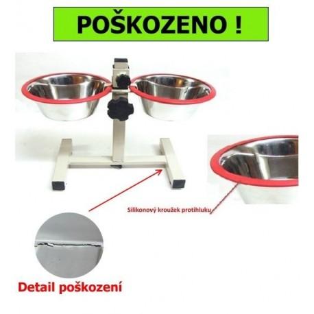 Stojan s nerez lavorky 2x1,6l SILIKON kroužek protihluku-II.JAK-14517