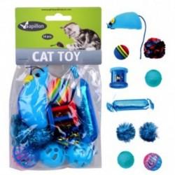 Hračka pro kočky - modrý Mix 10ks-240107