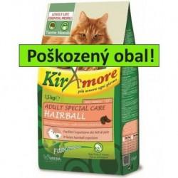 Kiramore Cat Adult S.Care Hairball 15kg-POŠKOZENÝ OBAL-15483