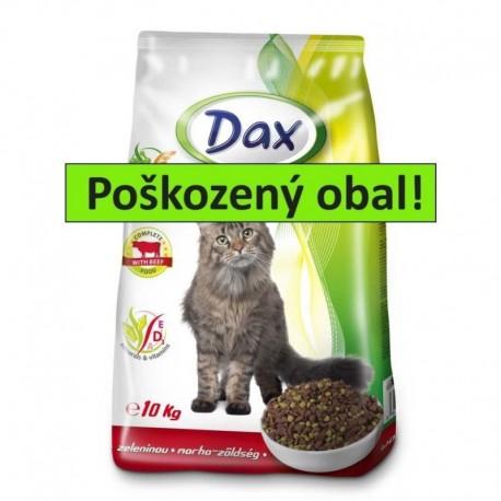 DAX granule CAT 10kg HOVĚZÍ+ZELENINA-POŠKOZENÝ OBAL-15485
