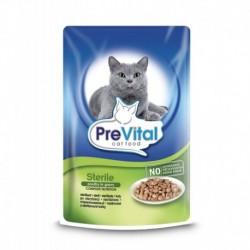 PreVital kočka sterilní drůbeží v omáčce, kapsa 100 g