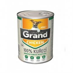 Grand deluxe Dog Adult 100% kuřecí 820 g