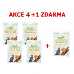 Canvit Snacks CAT Skin & Coat 100g-AKCE 2+1 zdarma