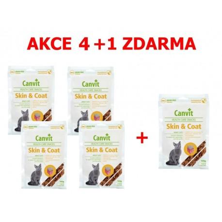 Canvit Snacks CAT Skin & Coat 100g-AKCE 4+1 zdarma-15495