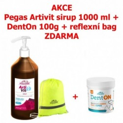 Vitar veterinae Artivit Sirup 1000ml s dávkovačem+DentOn+Bag-15510