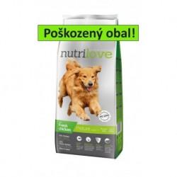 Nutrilove pes granule MATURE fresh kuřecí 12kg-TRHLE-sleva 10%-15513