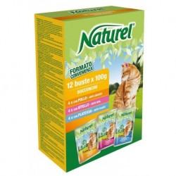 Naturel cat pouches BOX 12x100g-Chicken, Veal, Plaice-030051