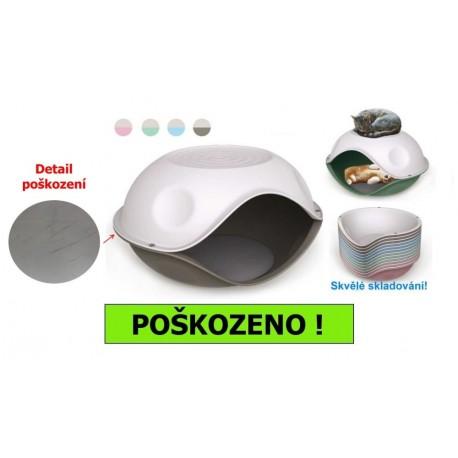 Duck Pillow-PL-jeskyně s polštářem-57x48x32h-POŠKRÁBANÉ-15517