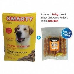 SMARTY DOG 10kg +Snack 250g ZDARMA-15576