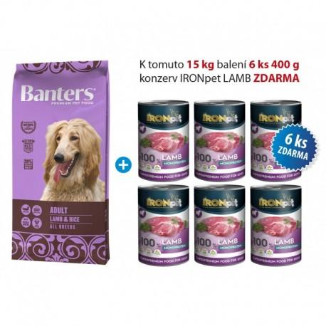 Banters Adult lamb&rice 15kg+konzerva IRONpet 6ks ZDARMA-15577