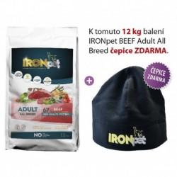IRONpet BEEF Adult All Breed 12kg+ČEPICE-15675