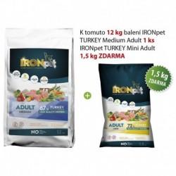 IRONpet TURKEY Medium Adult 12kg+1,5kg ZDARMA