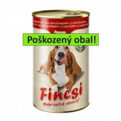 Fincsi Dog with Beef 1240g-POŠKOZENY OBAL-Sleva 20%