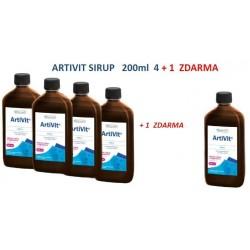 Vitar veterinae Artivit sirup 200 ml AKCE 4 + 1 ZDARMA