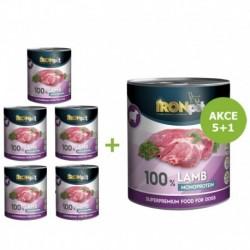 IRONpet LAMB 100% Monoprotein 800g Jehněčí, konzerva-Akce 5+1