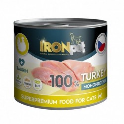 IRONpet Cat Beef (Hovězí) 100 % Monoprotein, konzerva 200 g