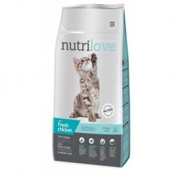 Nutrilove kočka Kitten kuřecí, granule 8 kg