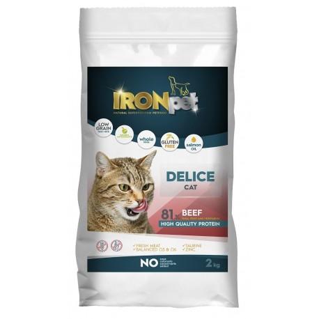 IRONpet Cat Delice Beef (Hovězí) 2 kg