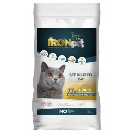 IRONpet Cat Sterilized Turkey (Krůta) 2 kg