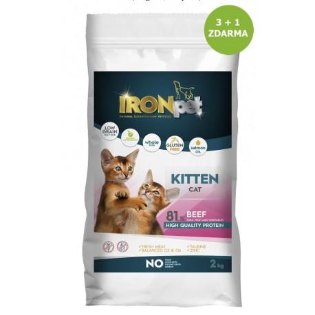 IRONpet Cat Kitten Beef (Hovězí) 2 kg AKCE 3 + 1 ZDARMA