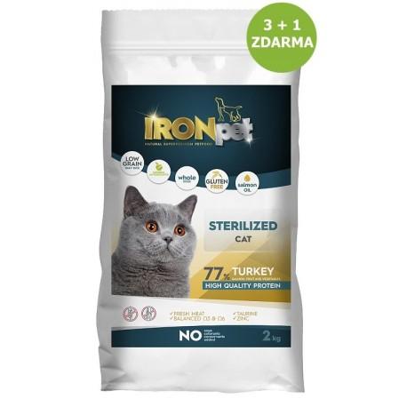 IRONpet Cat Sterilized Turkey (Krůta) 2 kg AKCE 3+1