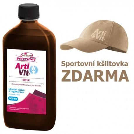 Vitar veterinae Artivit sirup 500 ml DÁREK KŠILTOVKA