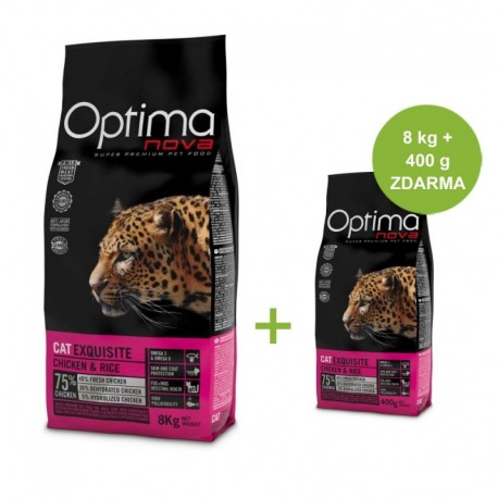 OPTIMAnova Cat Exquisite 8 kg + 400 g ZDARMA
