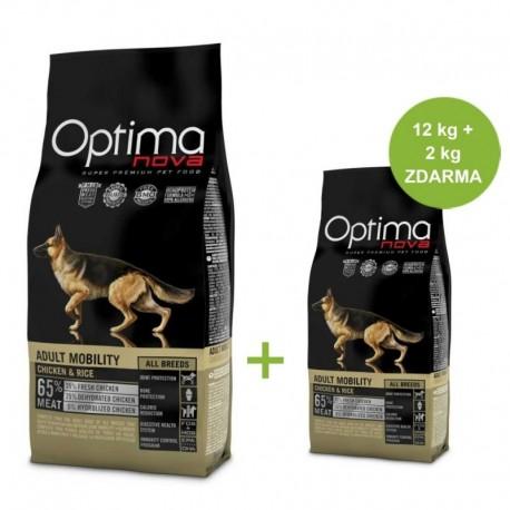 OPTIMAnova Dog Mobility Chicken & Rice 12 kg + 2 kg ZDARMA