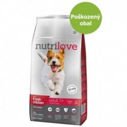 Nutrilove pes Adult Small fresh kuřecí, granule 8 kg-Poškozeny obal - SLEVA 10%