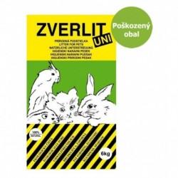 ZVERLIT UNI zelený univerzální podestýlka 6 kg - Poškozený obal - SLEVA 10 %