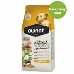 OWNAT Dog Classic Lamb & Rice 15 kg-Poškozeny obal - SLEVA 20%