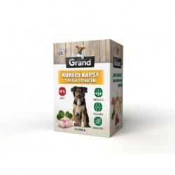 Grand deluxe Dog kuřecí, kapsička 4 x 300 g