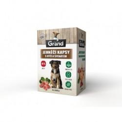 Grand deluxe Dog jehněčí, kapsička 4 x 300 g