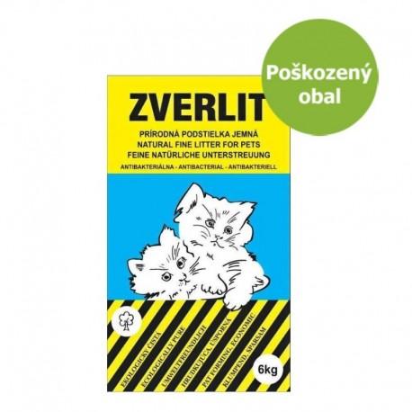 ZVERLIT modrý jemná podestýlka 6 kg - Poškozený obal - SLEVA 10 %