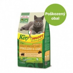 Kiramore Cat Adult Sterilized 15 kg - Poškozený obal - SLEVA 20 %