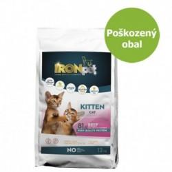 IRONpet Cat Kitten Beef (Hovězí) 12 kg - Poškozený obal - SLEVA 20 %