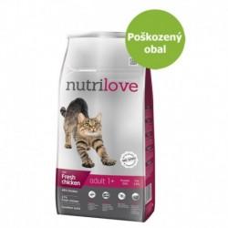 Nutrilove Cat Adult fresh kuřecí, granule 8 kg-Poškozeny obal - SLEVA 10%