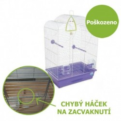 Klec pro ptáky Volia s výbavou 44 x 27 x 63 cm - Ulomená dvířka - SLEVA 50 %